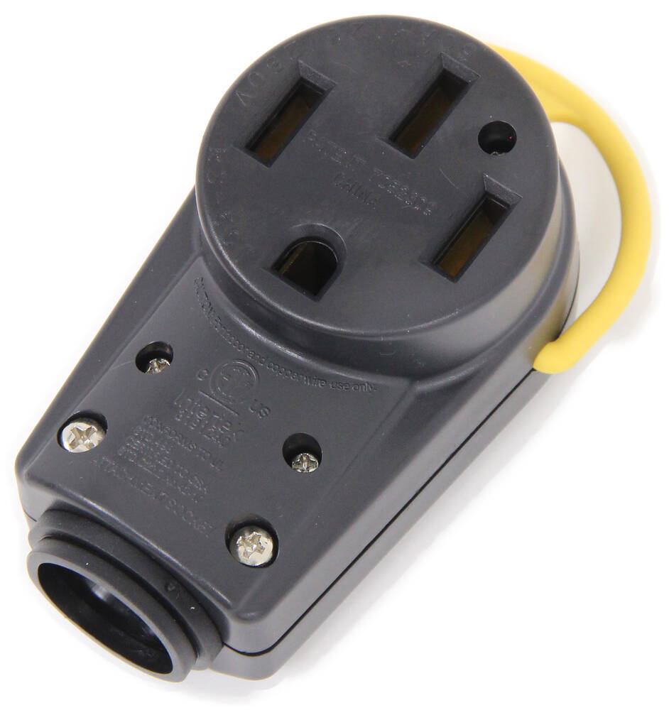 arcon replacement rv power adapter receptacle w folding handle 125v 50 amps arcon