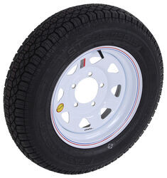 "Taskmaster ST205/75D15 Bias Trailer Tire w/ 15"" White Spoke Wheel - Offset - 5 on 5-1/2 - LR C"
