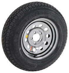 "Taskmaster ST205/75D15 Bias Tire w/ 15"" Steel Mod Wheel - 5 on 4-1/2 - LR C - Black PVD Finish"