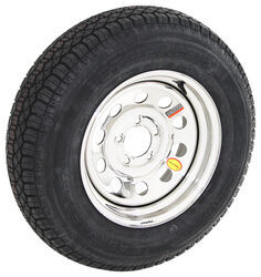 "Taskmaster ST205/75D15 Bias Tire w/ 15"" Steel Mod Wheel - 5 on 4-1/2 - LR C - Silver PVD Finish"
