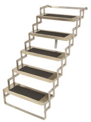 "Brophy Scissor Steps for RVs and Trailers - 5 Steps - 7"" Drop/Rise - 8-3/4"" Deep - 250 lbs"