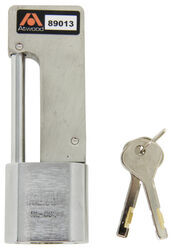 "Atwood AMPlock Trailer Coupler Latch Lock - Stainless Steel - 2 Keys - 4-5/8"" x 1-5/8"""