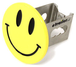 "Smiley Face Hitch Cover - 2"" Hitches - Stainless Steel - Yellow"