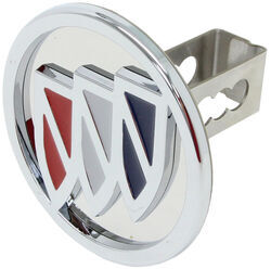 "Buick Trailer Hitch Cover - 1-1/4"" Hitches - Stainless Steel - Chrome"