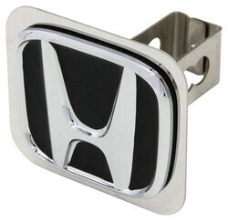 "Honda Trailer Hitch Cover - 1-1/4"" Hitches - Stainless Steel - Chrome and Black"