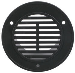 "Replacement Round Interior Trailer Vent for 3"" Diameter Hole - Black"