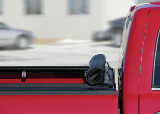 Storage straps and rolled Access Lorado tonneau