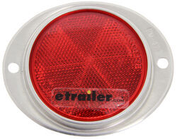 Red Aluminum Oval Reflector