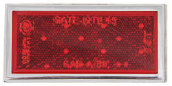 Red Rectangular Reflector with Chrome Trim
