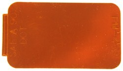 Amber Rectangular Microprismatic Reflector