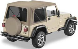 Bestop Replace-A-Top for Jeep - Dark Tan - Tinted Windows