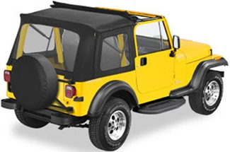 bestop sunrider soft top with fold back sunroof for jeep cj 7 wrangler 1976 1995 black bestop. Black Bedroom Furniture Sets. Home Design Ideas