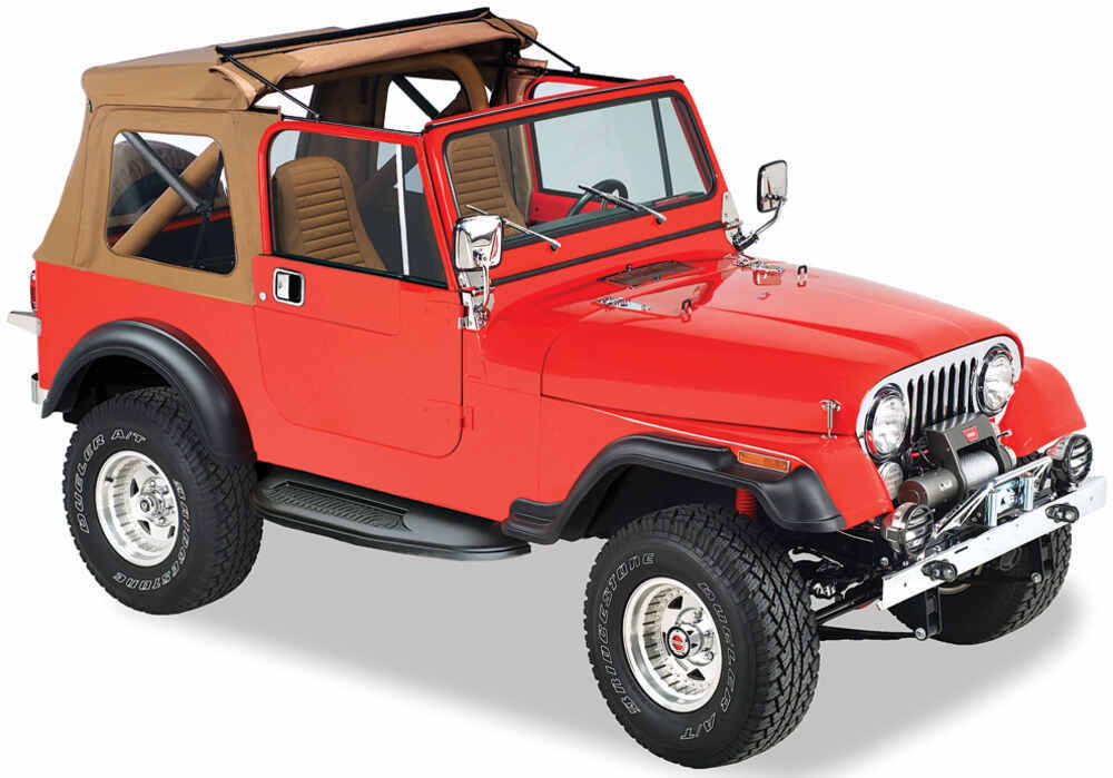 bestop sunrider soft top with fold back sunroof for jeep cj 7 wrangler 1976 1995 spice bestop. Black Bedroom Furniture Sets. Home Design Ideas