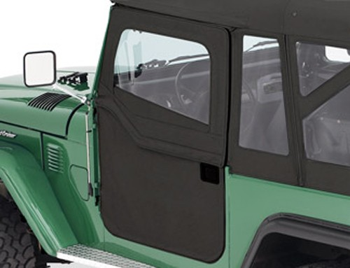 Bestop 2-Piece Soft Doors for Toyota Land Cruiser FJ40 1964-1984 - Black & Are Half Doors or Full Doors Available for a 1974 Toyota Land ...