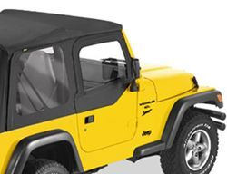 Bestop Soft Upper Doors for Jeep Wrangler, Wrangler Unlimited 1997-2006 - Black Denim
