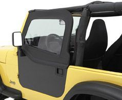Bestop Element Upper Doors for 1976-1995 Jeep - Black Denim