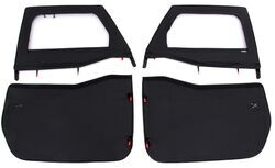Bestop 2-Piece Soft Front Doors for Jeep Wrangler, Wrangler Unlimited - Black Diamond