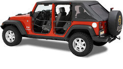 Bestop HighRock 4x4 Element Rear Doors for Jeep - Matte Black