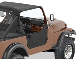 Bestop Soft Lower Half Doors for Jeep - Black Denim
