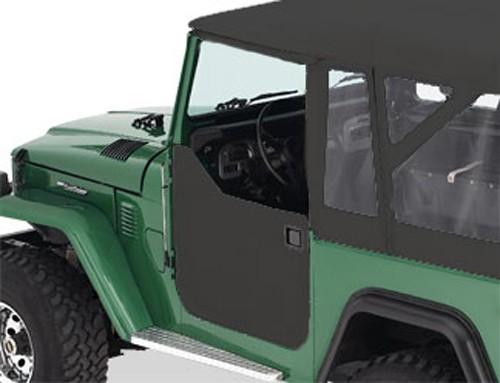 ... Doors for Toyota Land Cruiser FJ40 1964-1984 - Black Bestop Jeep Doors