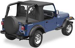 Bestop Halftop Soft Top For Jeep   Black Denim