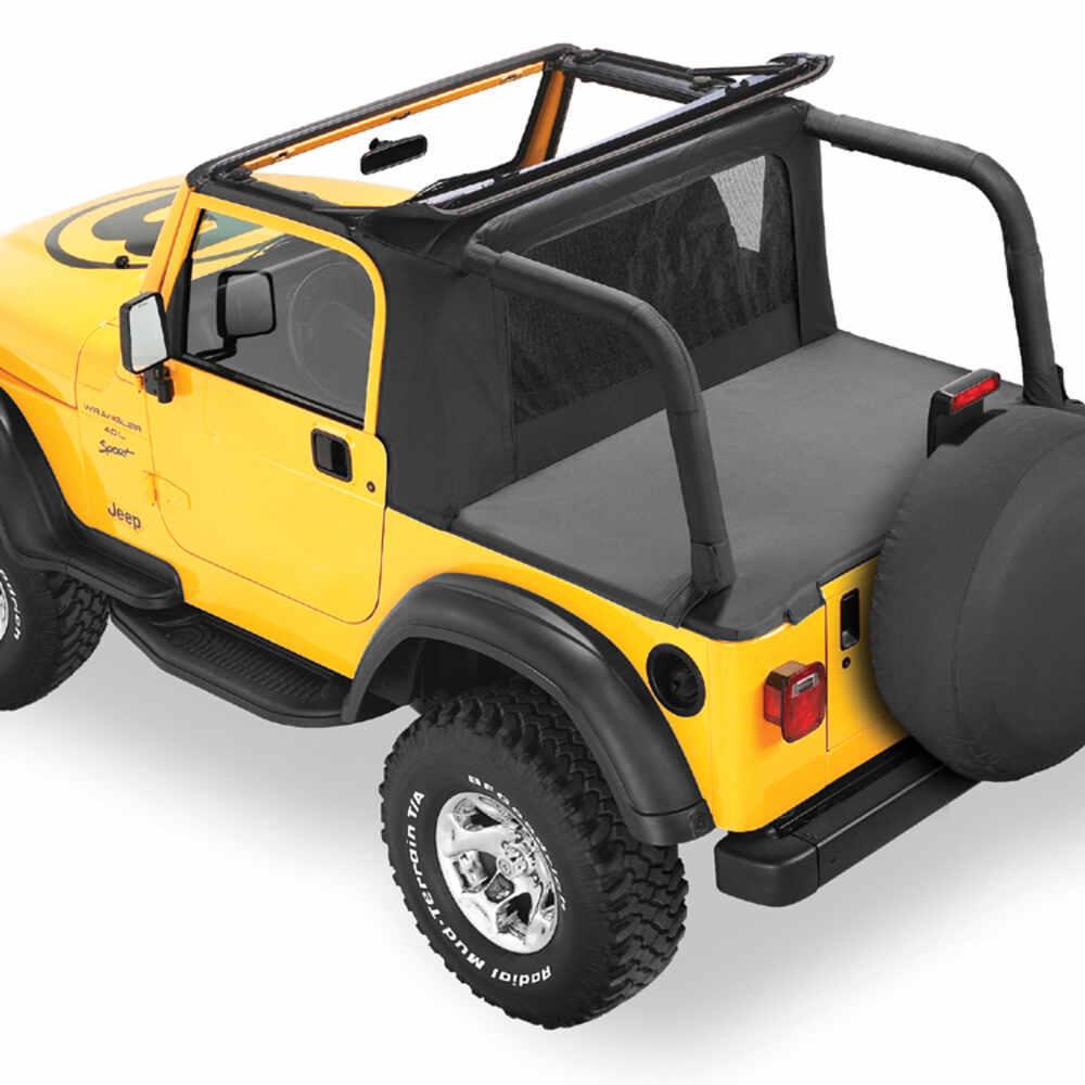 1999 jeep wrangler bestop halftop soft top for jeep black denim. Black Bedroom Furniture Sets. Home Design Ideas