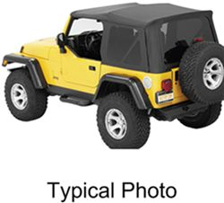 Bestop Supertop NX Soft Top For Jeep   Tinted Windows   Sailcloth   Black