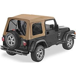 Bestop Supertop Soft Top for Jeep - Spice - Tinted Windows