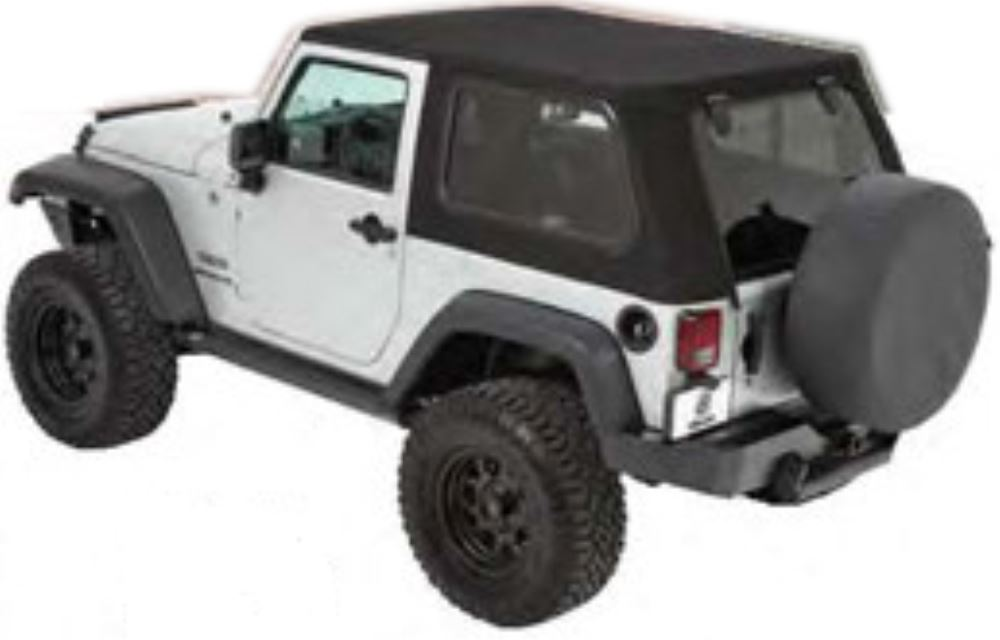 Bestop Trektop Pro Soft Top For Jeep Wrangler Black