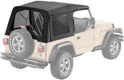 Bestop Replacement Skin for Supertop Jeep Soft Top - Black Denim - Tinted Windows