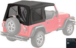 Bestop Replacement Skin for Supertop Jeep Soft Top - Black Diamond - Tinted Windows