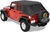 bestop jeep tops no doors bow system required trektop soft top for wrangler unlimited 2004-2006 - black diamond