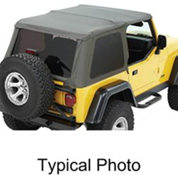 Bestop Trektop NX Soft Top for Jeep - Sunroof and Tinted Windows - Black Diamond