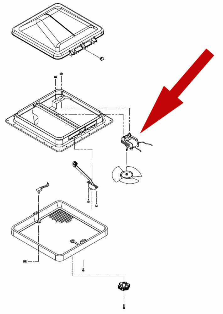 replacement 110 volt ac fan motor for ventline ventadome. Black Bedroom Furniture Sets. Home Design Ideas