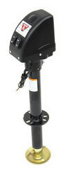 "Bulldog Powered-Drive Trailer Jack - Drop Leg - A-Frame - 14"" Lift - 3,500 lbs - Black"