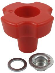 Replacement Red, Eagle-Claw-Style Knob Kit for 2,000-lb to 5,000-lb Bulldog Topwind Jacks