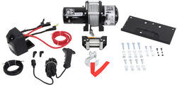 Bulldog 5.2 hp, Low-Profile Trailer Winch w/Mounting Plate - Roller Fairlead - Wire Rope - 7,800 lbs