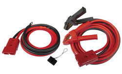 Bulldog Winch Booster Cable Set w/ Power Leads - Quick Connect to Clamp - 2 Gauge - 20' Long