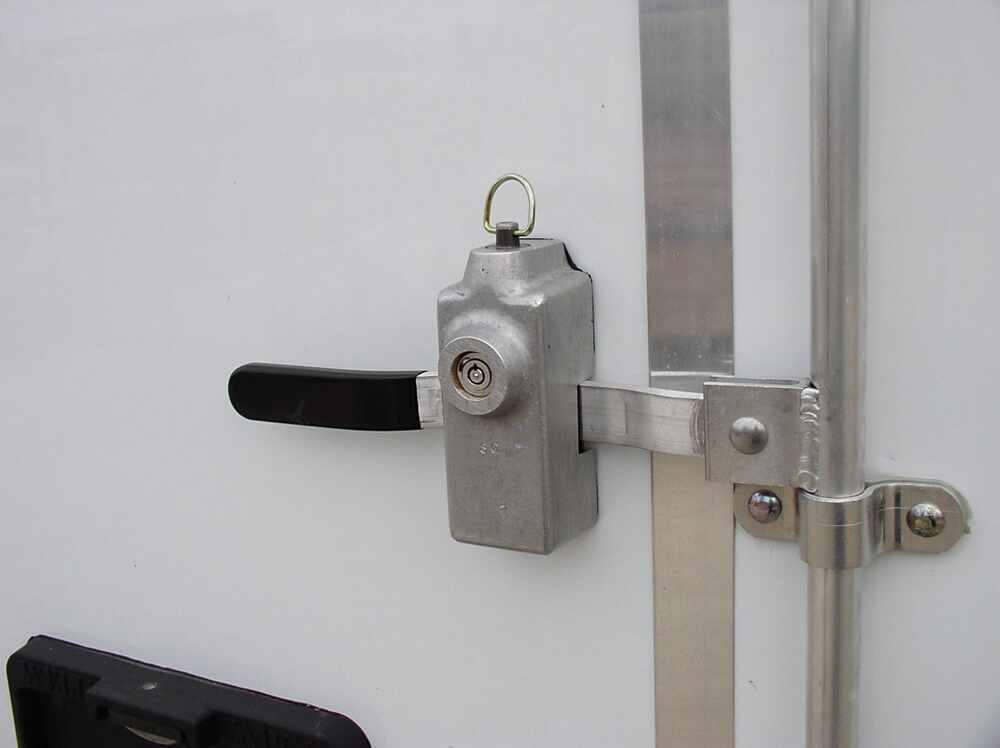 Blaylock door lock for enclosed trailers aluminum push for Door lock parts