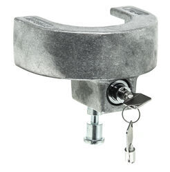 "Blaylock EZ Lock Trailer Coupler Lock for 2-5/16"" Lipped Couplers - Aluminum - Push Button"