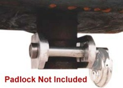 Blaylock EZ Lock King Pin Lock for 5th Wheel Trailers - Aluminum