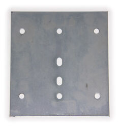 "E-Track Backing Plate - Zinc Plated Steel - 6-1/2"" Long x 6"" Wide"