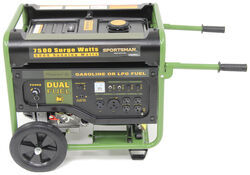 Buffalo Tools 7,500-Watt Generator - 6,000 Running Watts - Dual Fuel - Electric Start - BTGEN7500DF