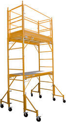 Buffalo Tools Multi-Use Scaffold Tower with Guard Rail and Outriggers - 12-1/2' Tall - 850 lbs - BTGSSI-KIT