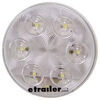 LED Backup Light for Truck or Trailer - Submersible - 6 Diodes - Round - Clear Lens - Qty 1