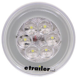 GloLight LED Backup Light for Truck or Trailer - Submersible - 21 Diodes - Round - Clear - Qty 1