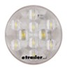 "LED Backup Light - 10 Diode - Sealed - 4"" Round - White w/ Clear Lens - Weather Plug"