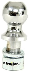"2-5/16"" Hitch Ball - 1-1/4"" Diameter x 2-1/2"" Long Shank - Chrome - 16,000 lbs"
