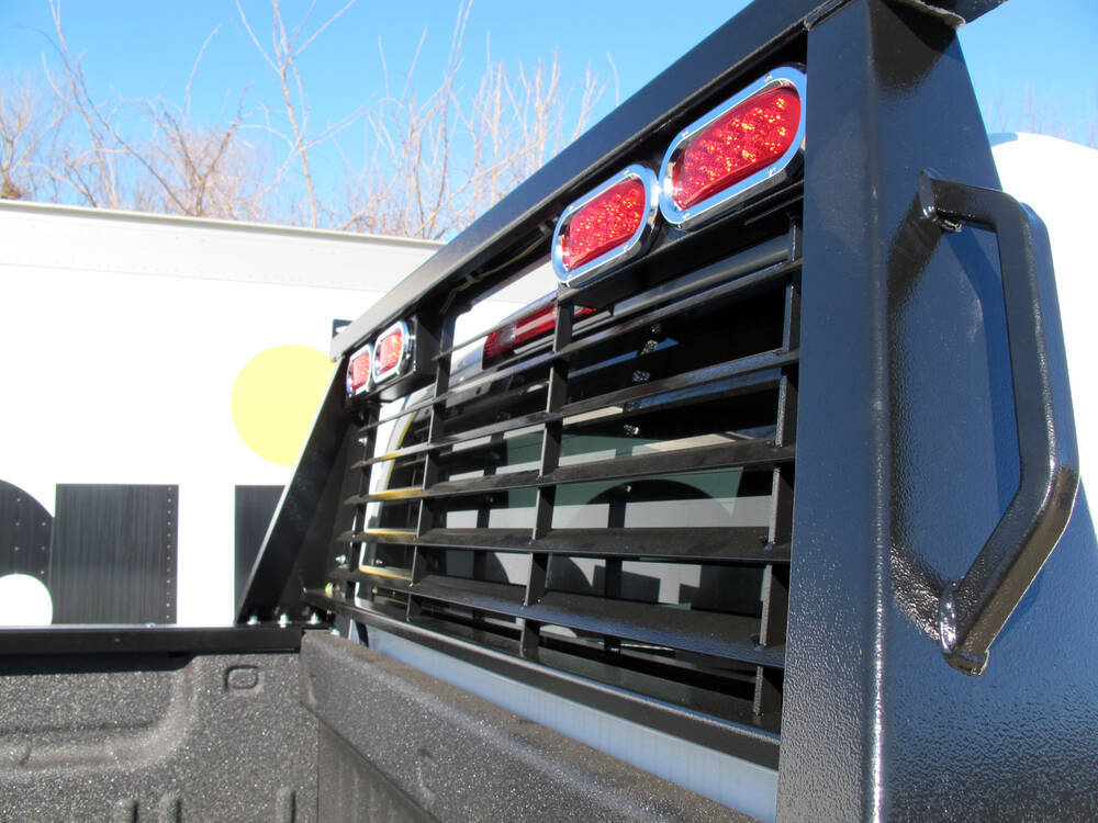 B Amp W Custom Headache Rack W Led Brake Turn Tail Lights