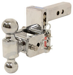 "B&W Tow & Stow 2-Ball Mount - 2"" Hitch - 3"" Drop, 3-1/2"" Rise - 10K - Chrome"